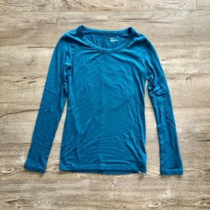 GapFit Teal Maximum Heat Long Sleeve Shirt